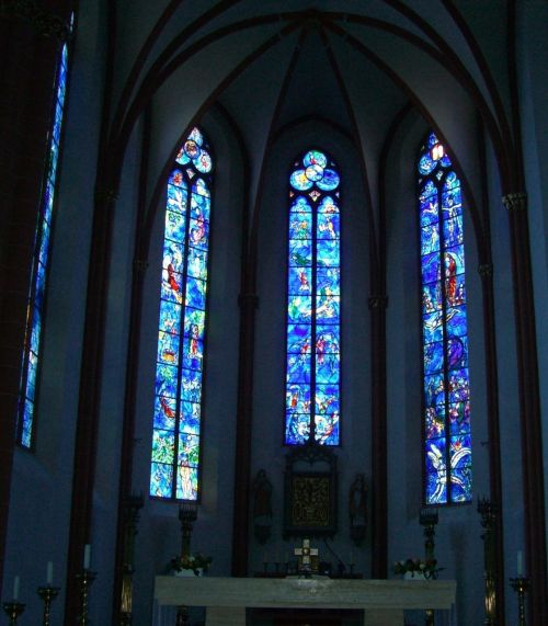 glass window chagall church window