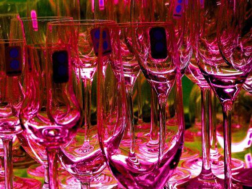 glasses champagne glasses glass