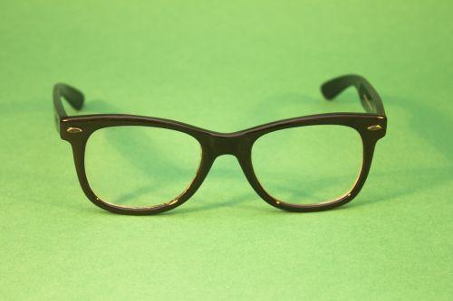 glasses black green