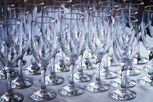 glasses champagne alcohol