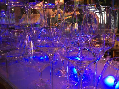glasses illuminated blue