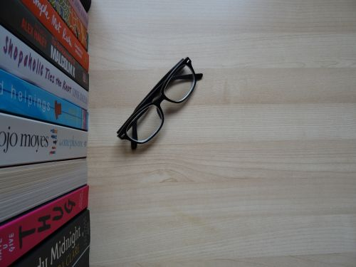glasses wood background spectacles