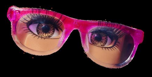 glasses eyes doll