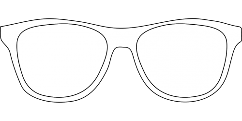 glasses outlines simple