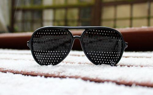 glasses snow winter