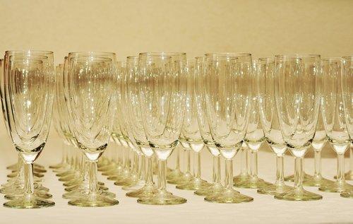 glasses  champagne glasses  glass series