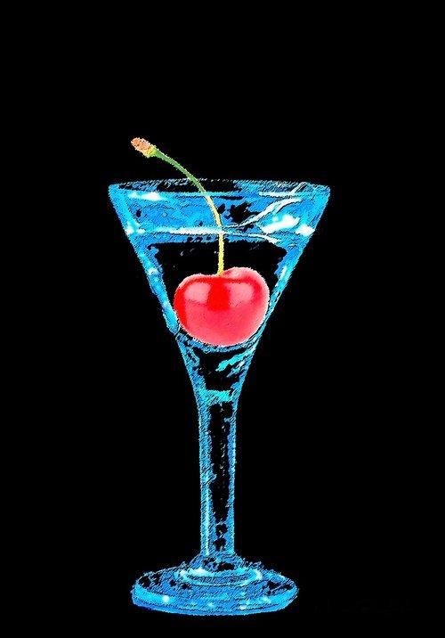 glasses  cherry  aperitif