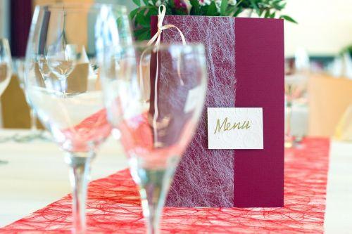 glasses menu cards restaurant