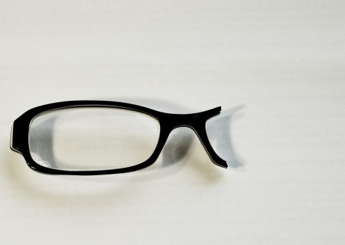 glasses broken black