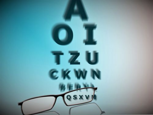 glasses letters eye test