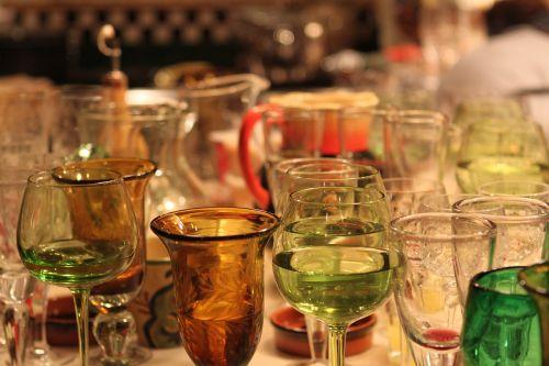 glasses glassware dishes