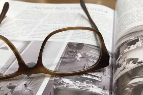 glasses magazine book