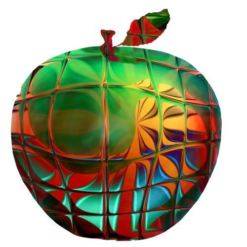Glassy Transparent Apple