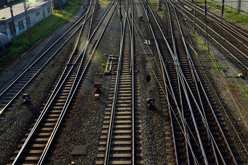 gleise  railway station  rails