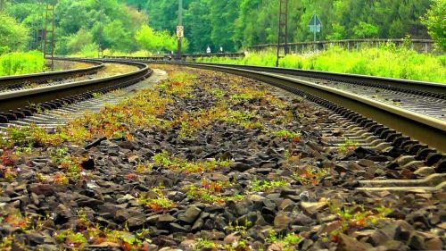 gleise railway rails track
