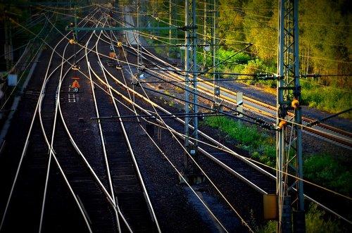 gleise  track  railroad track