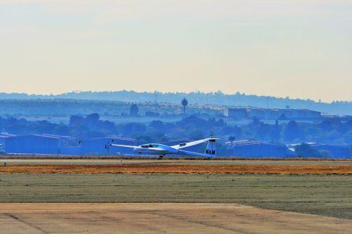 Glider Approaching Touchdown