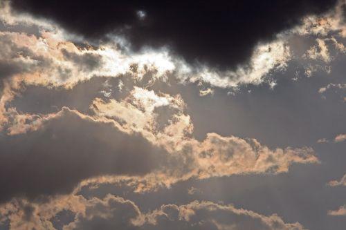 glistening clouds sky clouds