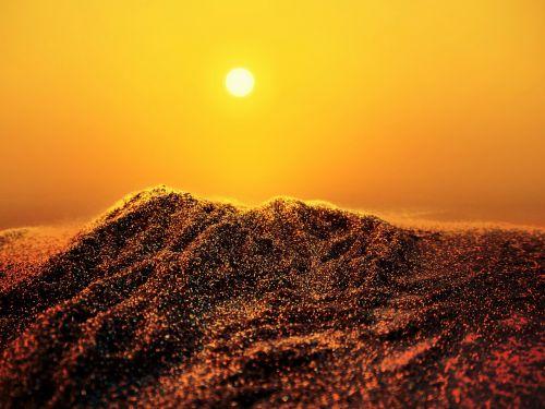 glitter desert dunes