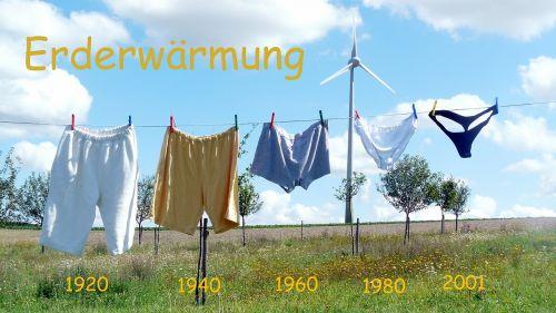 global warming clothes line underwear