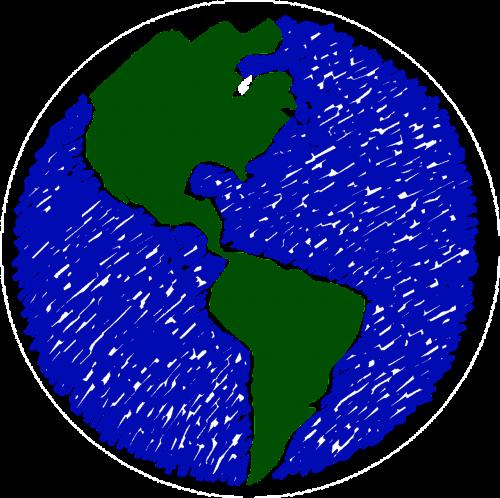 globe drawing earth