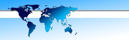 globe earth banner