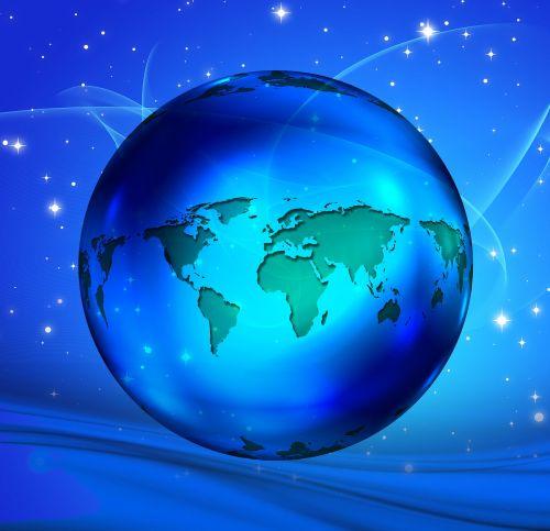 globe continents world
