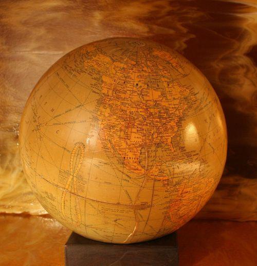 globe world antique
