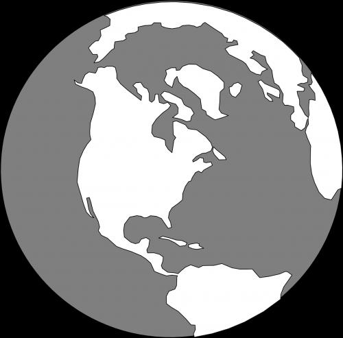globe world grey