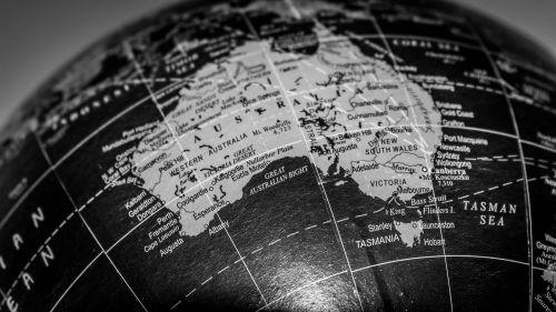 globe australia continent