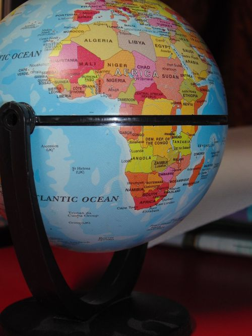 globe geography blue
