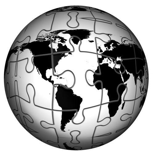 globe puzzle earth