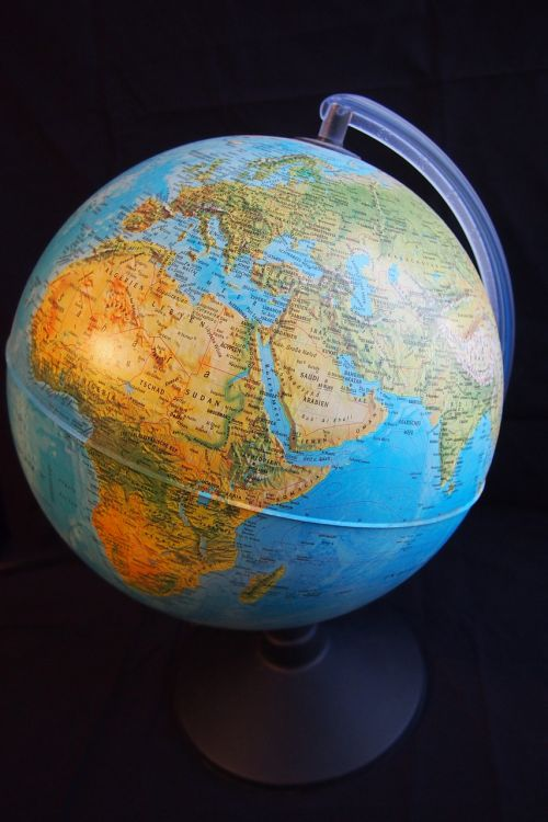 globe hemisphere africa