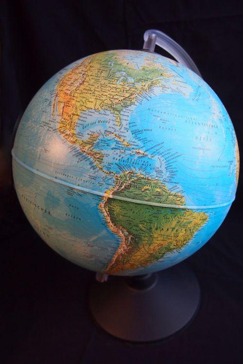 globe hemisphere america