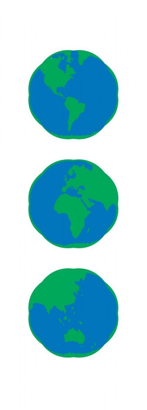 Globe Continents