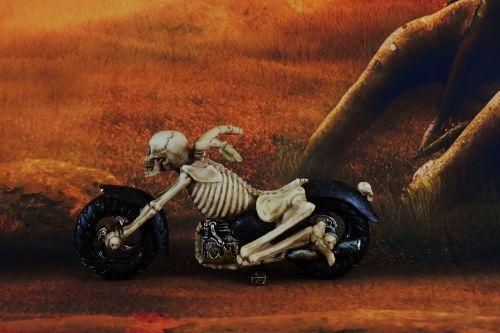 gloomy mood skeleton
