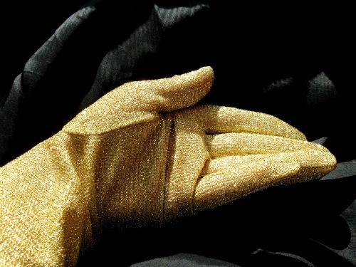 glove gold the hand