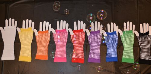 gloves bubbles colored gloves