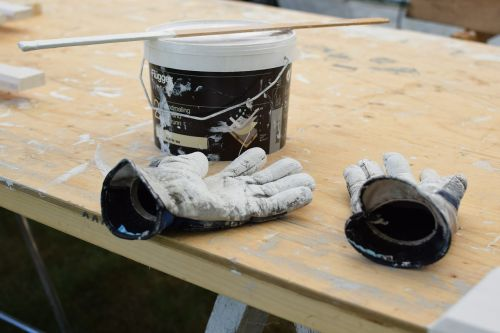 gloves paint dirty