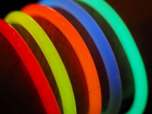 glow stick colorful light