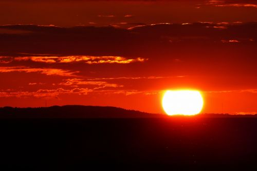 glowing red sunset