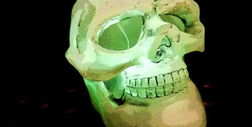 Glowing Green Skull