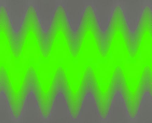 Glowing Green Zig-zag