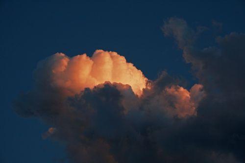 Glowing Light Illuminating Cloud