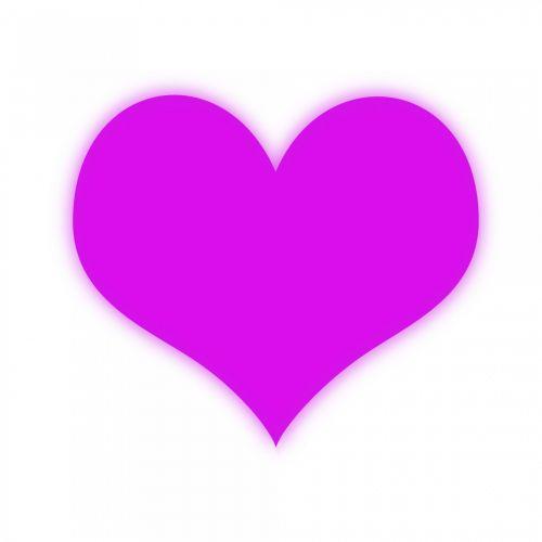 Glowing Magenta Heart