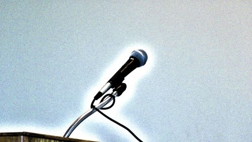 Glowing Microphone
