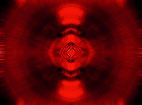 Glowing Red Radial Fan