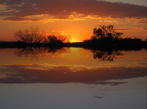 Glowing Sunset Reflection