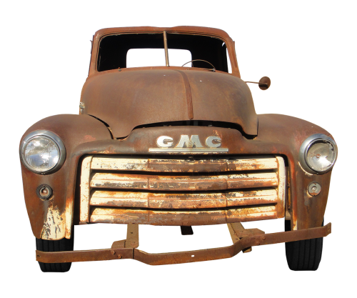 gmc oldtimer rusted