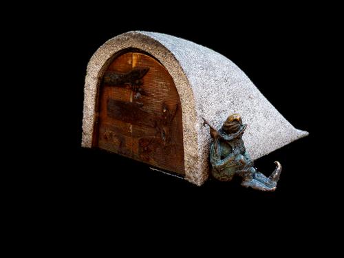 gnome  poland  statue bronze